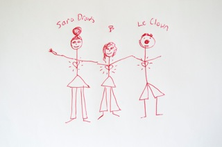 Le Clown and Sara Draws
