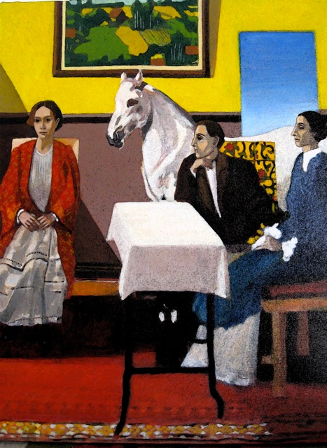'Family Portrait with a Horse' by Keyvan Mahjoor