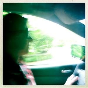 Jen Groeber in car