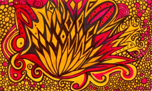 The fire burns by Brenda Keesal